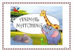 Animal Matching, esl, for kids, game, memory, esl activities, fun stuff