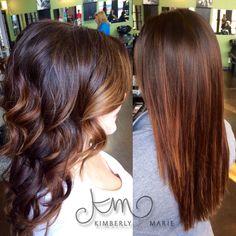 Straight Balayage & Curly Balayage by Kimberly Marie @ Salon Ish @km_stylist
