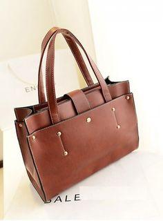 2013 New Women's Leather Elegant Tote Shoulder Bags Brown