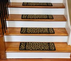 Add tons of personality and style to your home's décor with these animal print carpet stair treads from Dean Flooring Company. Carpet Sale, Stair Runner Carpet, Cheap Carpet Runners, Red Carpet Runner, Buying Carpet, Soft Carpet, Bedroom Carpet, Carpet Stair Treads, Hallway Carpet Runners