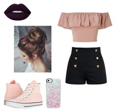 """""""For School"""" by guadalupe-cerutti on Polyvore featuring Miss Selfridge, Converse and Casetify"""