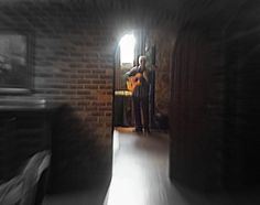 Guitarist Marc E performs at a wedding Cocktail Hour in the wine cellar at Bella Collina Central Florida, Wine Cellar, Orlando, Cocktails, Wedding, Cocktail Parties, Mariage, Cocktail, Weddings