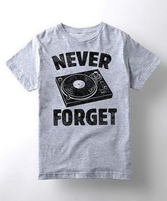 Loving this Athletic Heather 'Never Forget' Tee - Kids on #zulily! #zulilyfinds