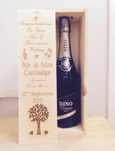 July Entry - Great use of a premium one bottle wine box with engraving