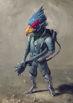 Falco, Star Fox artwork by Oscar Römer