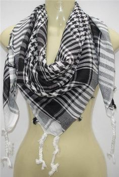 Unisex Chequered Arab Arafat Shemagh Kafiyah Desert Style Scarf Throw - 17 Gorgeous Colours, while stocks last... - List price: $19.99 Price: $1.64