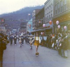 Christmas Parade on 2nd Avenue, Williamson, WV, 1971.
