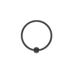 Black Hoop Nose Ring