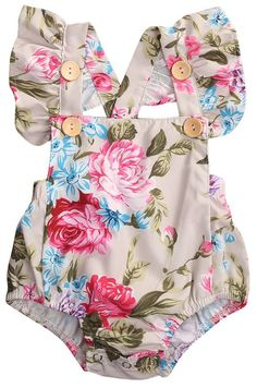Cheap romper ruffled, Buy Quality sunsuit toddler directly from China baby romper floral Suppliers: 2017 Summer Floral Newborn Baby Girl Clothes Floral Romper Ruffles Sleeve Toddler Kids Jumpsuit Outfits Sunsuit Halter Baby Outfits, Toddler Outfits, Summer Outfits, Funny Outfits, Fashion Kids, Baby Girl Fashion, Fashion Outfits, Baby Girl Romper, Baby Girl Newborn
