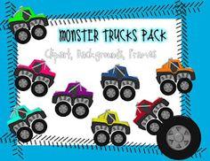 Classroom Freebies Too: Monster Trucks Clip Art FREEBIE