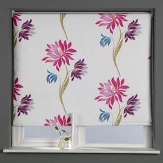 Sunlover Patterned Thermal Blackout Roller Blind, Lotus Flower, W60cm: Amazon.co.uk: Kitchen & Home £10