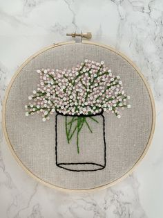 Hand Embroidery Patterns Flowers, Hand Embroidery Videos, Dmc Embroidery Floss, Hand Embroidery Stitches, Hand Embroidery Designs, Embroidery Art, Cross Stitch Embroidery, Art Patterns, Embroidered Flowers
