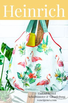 Sewing instructions and patterns: Heinrich Shopping Bag - Bag # Sewing Instructions Pattern # - Flammkuchen Toast Diy Tote Bag, Diy Purse, Reusable Tote Bags, Bon Image, Diy Blog, Luxury Bags, Free Sewing, Handmade Bags, Diy Clothes
