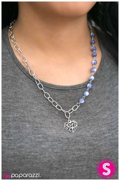 This May HEART A Little - Blue  Look at this beauty, I really love the heart pendant and the blue beads. Grab it before it's gone, www.paparazziaccessories.com/27026
