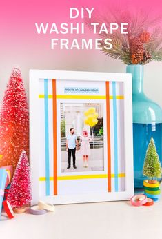 Decor Crafts, Easy Crafts, Diy And Crafts, Crafts For Kids, Christmas Songs Lyrics, Favorite Christmas Songs, Diy Washi Tape Frames, Free Printable Cards, Diy Holiday Gifts