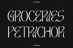 TAN - GRANDEUR by TanType on @creativemarket Sans Serif, Psychedelic, Names, Messages, Type, Art, Art Background, Kunst, Trippy