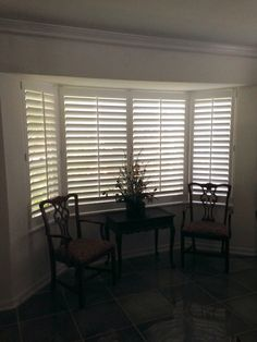 Bay Window with Hard Wood Plantation Shutters