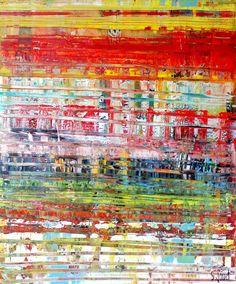 <p>QUE LA COULEUR EST BONNE - 2015 Acrylique abstraite sur châssis toile peinte à la main. Ce tableau est également peint sur une base de collage sur la toile avec application de la peinture acrylique au couteau en plusieurs couches…</p>