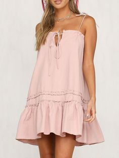 Wearing Women's Sexy Sling Solid Color Stitching Ruffled Dress becomes more charming, buy Women's Sexy Sling Solid Color Stitching Ruffled Dress online now! Cheap Dresses, Sexy Dresses, Cute Dresses, Casual Dresses, Casual Outfits, Cute Outfits, Party Outfits, Beach Dresses, Summer Dresses