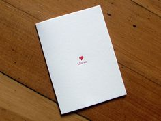 My sister's awesome Valentine Letterpress cards...