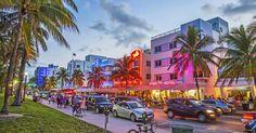 Caminhada pelo Deco District em Miami #viagem #miami #orlando