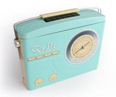 Blechdose-Gebaeckdose-Vorratsdose-Radio-Nostalgie-blau-23-cm-Schmuckdose-NEU