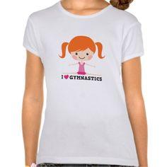 I love heart gymnastics cartoon girl side split t shirt T Shirt, Hoodie Sweatshirt