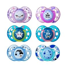 Tommee Tippee Closer to Nature Night Time Toddler Soothie Pacifier, Months - 2 Count (Colors May Vary) Toddler Dolls, Baby Dolls, 18th Birthday Party Themes, Orthodontic Pacifier, Baby Binky, Baby Pacifiers, Fake Baby, Twin First Birthday, Baby List