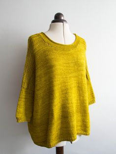 Worsted Boxy by Joji Locatelli | malabrigo Rios in Frank Ochre