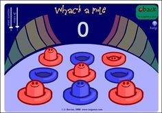 We've addressed those who need an extra challenge, but what about those who are not quite there yet?  This whack-a-mole game give s students the opportunity to logically connect numbers in order.  - skip counting too
