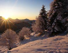 alba in montagna
