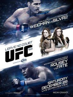 UFC 168: 'Weidman vs. Silva 2′ Poster Reveal - hov-mma