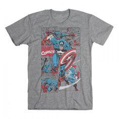 Captain America Comic Jack King, Captain America Comic, Marvel Clothes, A Comics, My Style, Tees, Mens Tops, T Shirt, Life