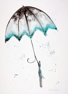 Krystyna Siwek - rain - abstract gallery Rain Street, Rainy Days, Romantic, Abstract, Gallery, Drawings, Illustration, Pictures, Art