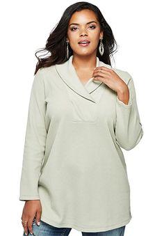 ecf55d63f5db0 Roamans Women's Plus Size Thermal Shawl Tunic Moonstone,3X #summer  #summerstyle #fashion