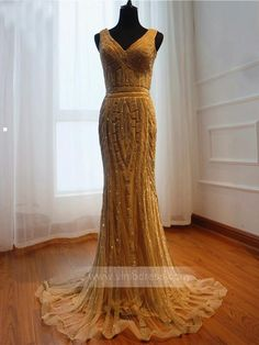 Shiny Gold Beaded Prom Dresses Sheath Evening Gowns FD1205 – Viniodress Ombre Prom Dresses, Grey Prom Dress, Junior Prom Dresses, Strapless Prom Dresses, Beaded Prom Dress, Prom Dresses With Sleeves, Black Prom Dresses, Beautiful Prom Dresses, Dress Long