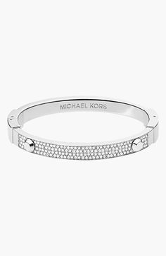 MICHAEL Michael Kors Michael Kors 'Brilliance' Hinged Bangle available at Jewelry Accessories, Fashion Accessories, Nordstrom, Michael Kors Jewelry, Embossed Logo, Studs, Jewelry Watches, Bangles, Jewels