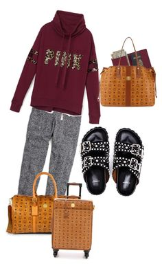 """""""Headed To The Airport"""" by kmartin0820 ❤ liked on Polyvore featuring Madewell, Victoria's Secret PINK, Givenchy, Royce Leather and MCM"""