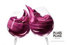 clink! vin rouge pleats. #pleatspleaseanniversary #genius #lightasair