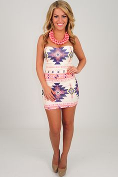 Boldly Go Strapless Dress: Multi --> use SUNSHINESTILETTOS for 10% off plus free shipping!