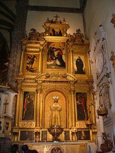 El retablo de Zurbarán en la parroquia de Zafra.