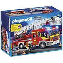 Playmobil Bomberos Camión Y Escalera Con Luces Y Sonido Camion De Bomberos Playmobil Bomberos