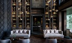 Apartment Therapy Wall Decor Lobby Lounge of Puli Hotel in China on Behance