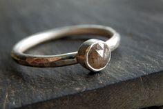 Conflict free ethical rose cut diamond and recycled sterling silver ring / custom diamond ring / rose cut wedding ring / engagement ring by EmmyBean on Etsy https://www.etsy.com/listing/162512132/conflict-free-ethical-rose-cut-diamond