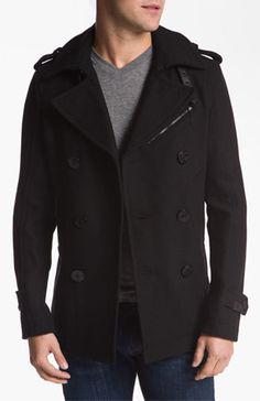 DIESEL 'Wittory' Double Breasted Peacoat #mens #coat