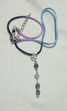 Child's Purple, Blue Gemstone Pentagram Dangle Necklace - $16.50 - Handmade Jewelry, Crafts and Unique Gifts by Harmonee's Magickal Creations