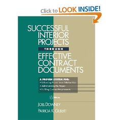 $50 Successful Interior Projects Through Effective Contract Documents (RSMeans): Joel Downey, Patricia K. Gilbert: 9780876293836: Amazon.com: Bo...