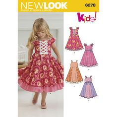 New Look Pattern 6278 Child's Dress with Trim Variations