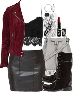 f3af92006 Erica Inspired Outfit with a Black Bralette by veterization featuring black  military boots Topshop mesh crop