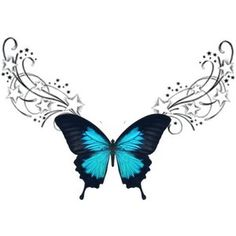 Top Lower Back Butterfly Tribal Tattoo Designs Picture 4